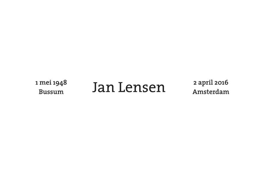 Jan Lensen overleden