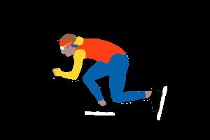 Schaatsles en schaatstraining